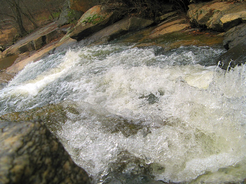 Waterfall really close