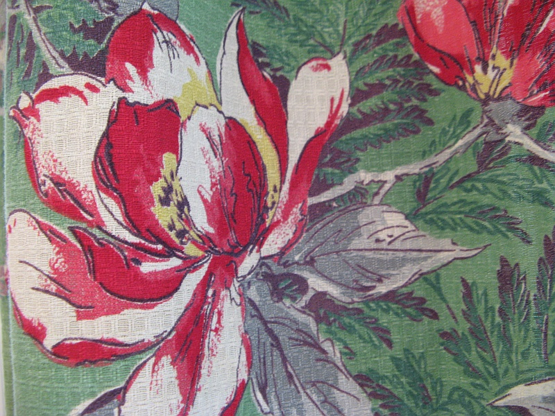 Fluffy flowers vintage fabric