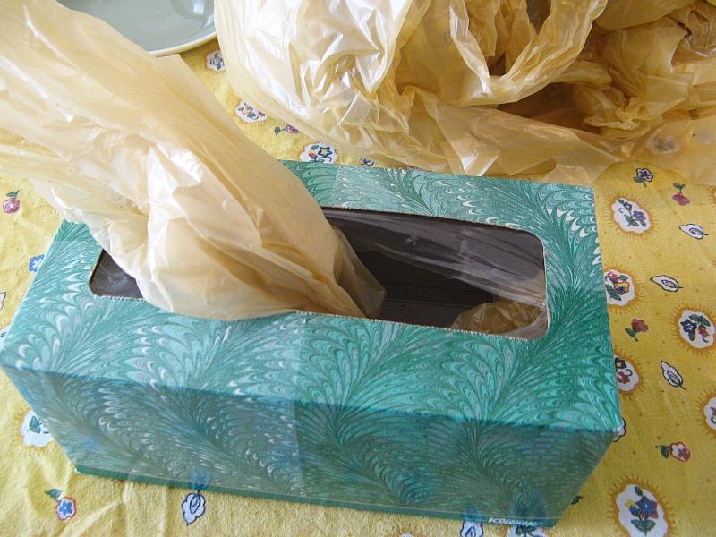 Stuff sack into box