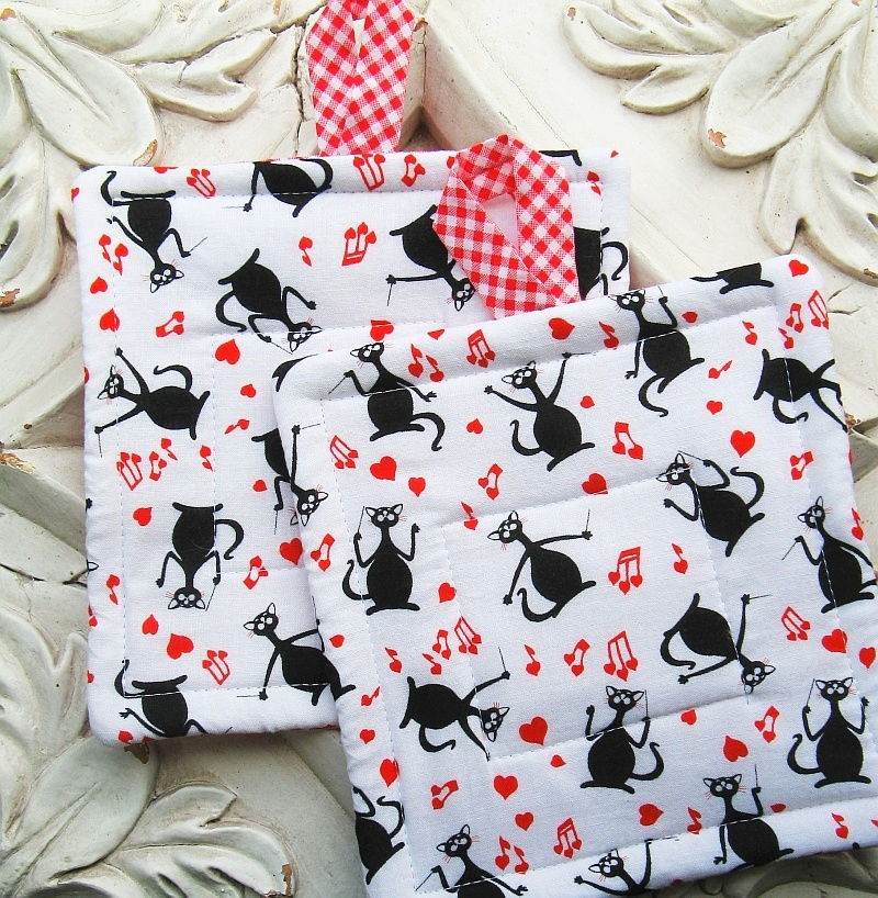 Musical Kitties Hotpads
