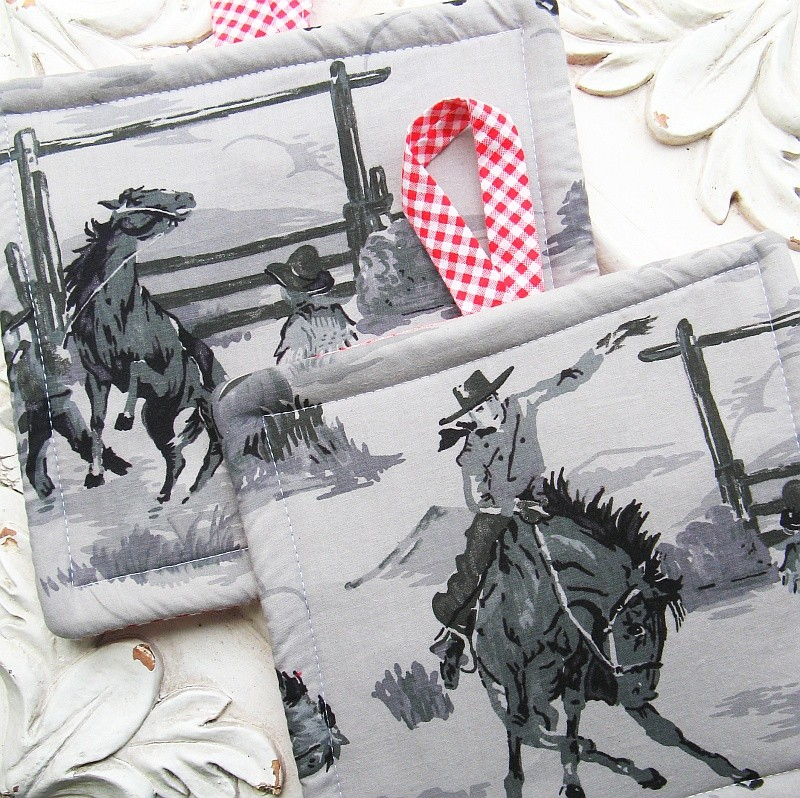 Cowboys Potholders