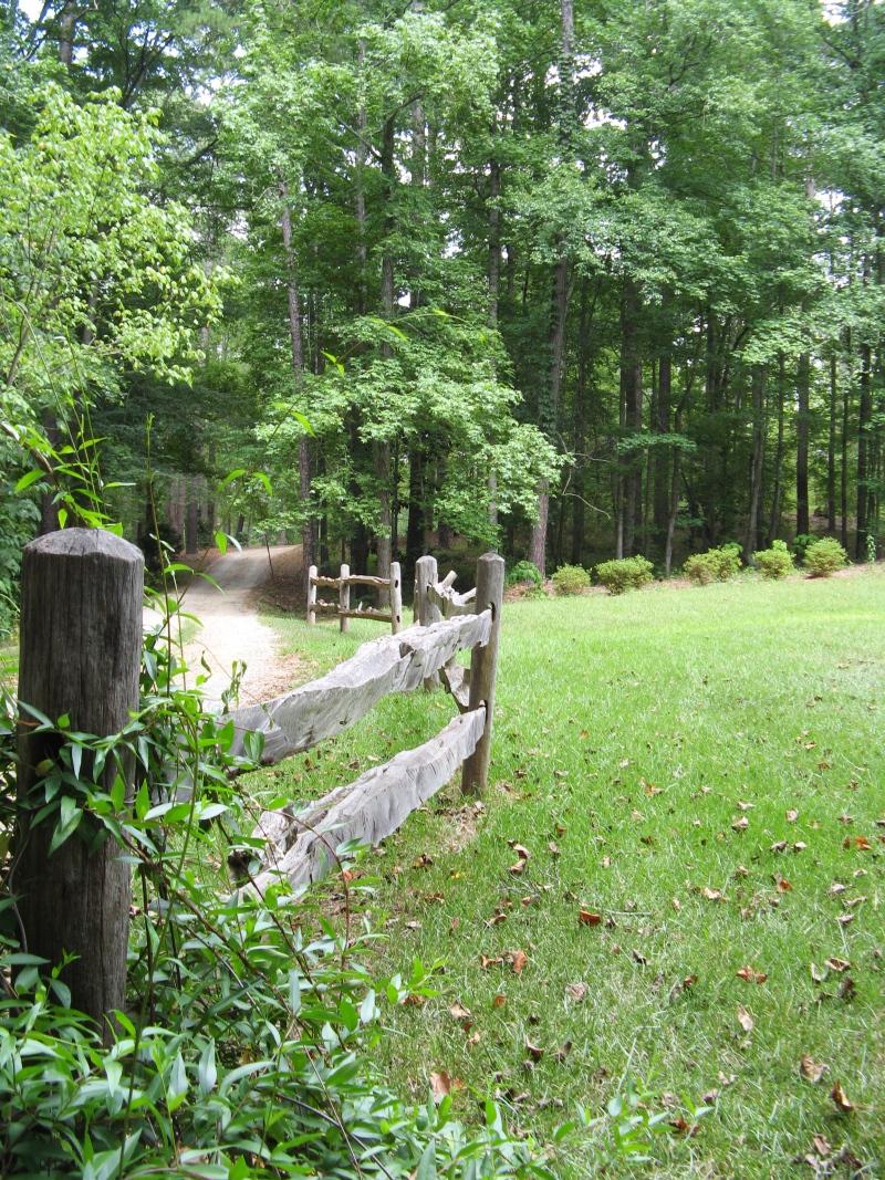 Split wood fence