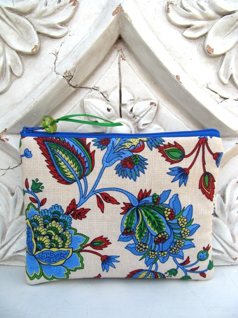 Pretty blue padded pouch