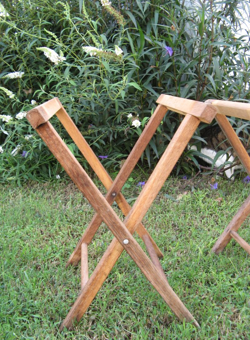 Camp stools in progress