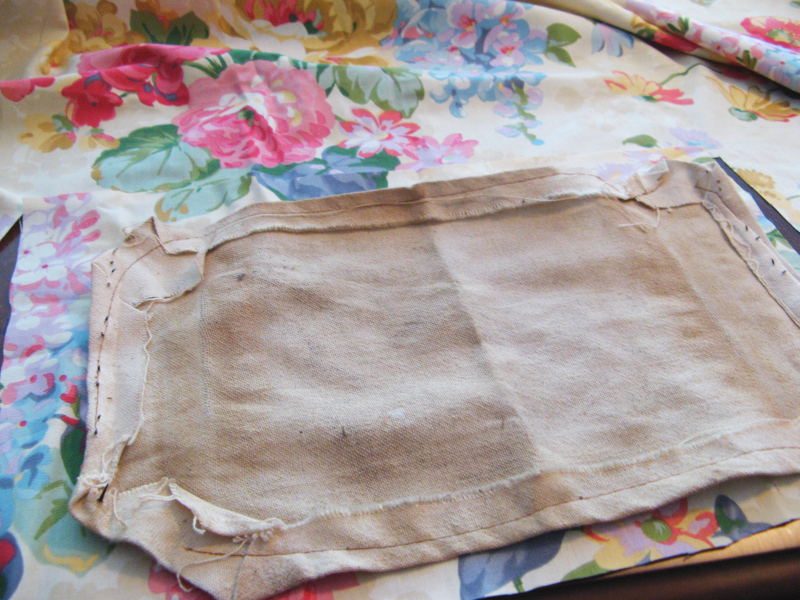 Old fabric for pattern