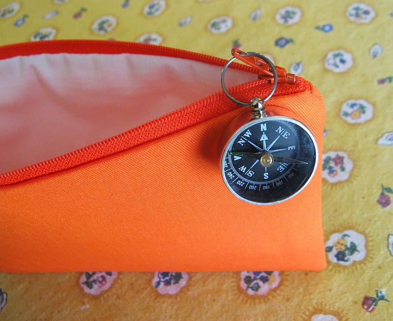 Inside orienteering bag