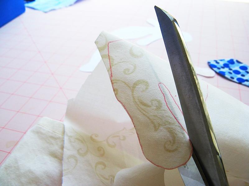 Cut out mermaid body fabric