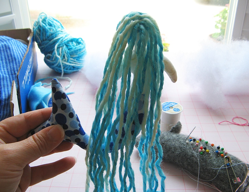 Mermaid yarn hair