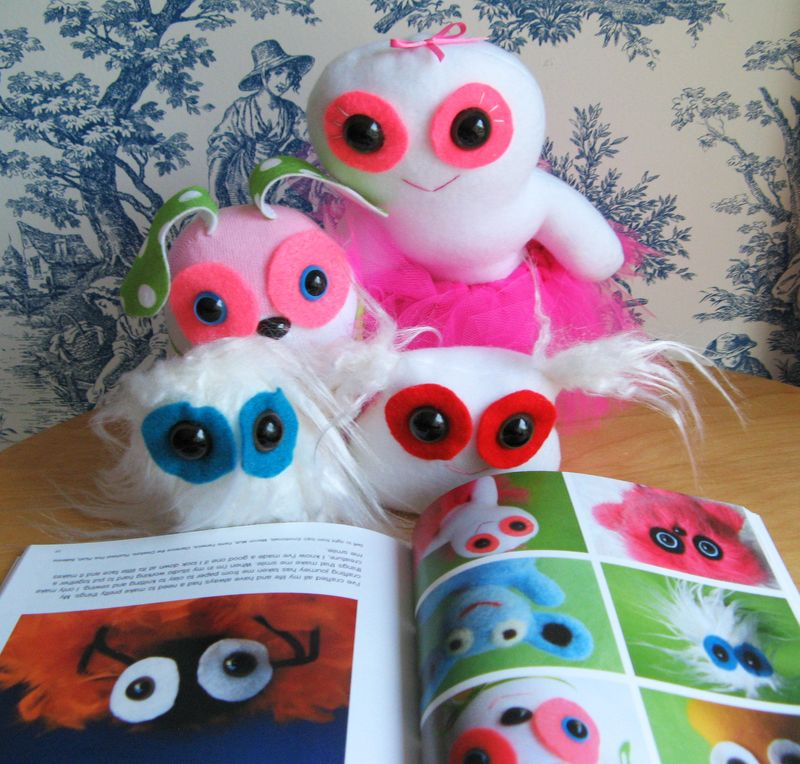 Fluffy Flowers creatures and Get Stuffed Plush Book