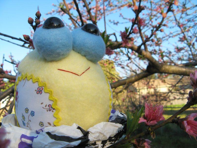 Tweety Bird in a peach tree