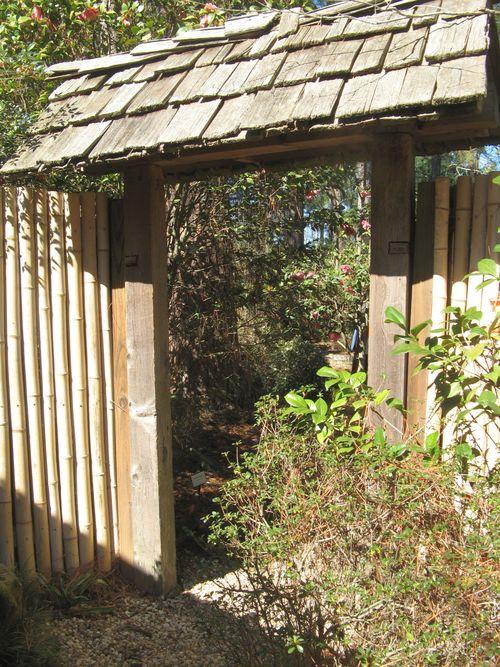 Massee Lane Camellia Gardens Japanese Garden entrance door
