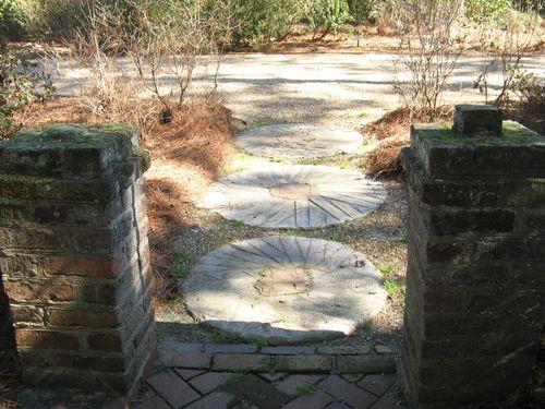 Massee Lane Camellia Gardens small formal garden exit