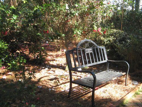 Massee Lane Camellia Gardens Formal Garden bench