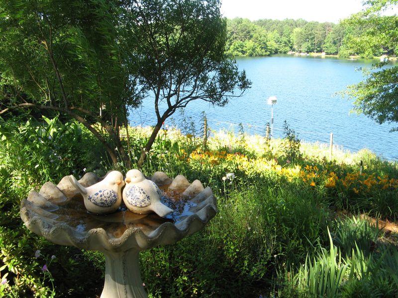 Dow Lake Henry County Georgia Garden Tour 2012 birdbath