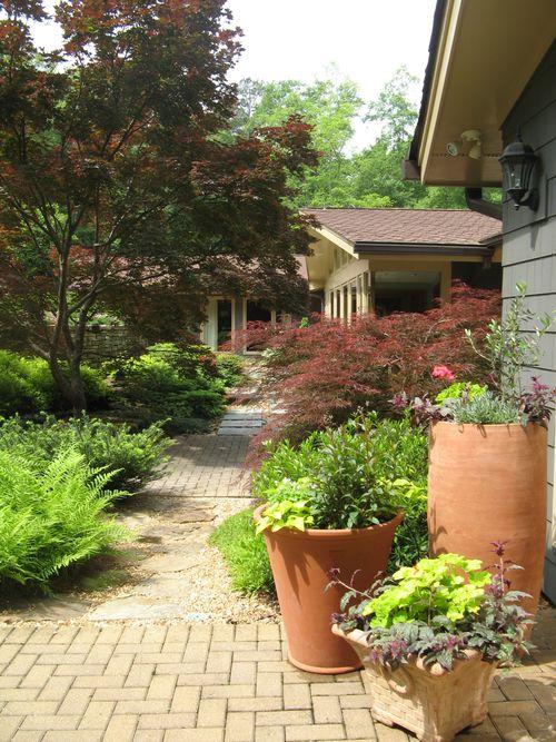 Athens Garden Tour 2012 courtyard pots