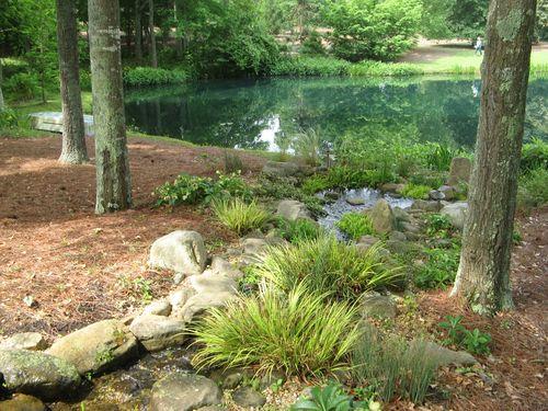 Athens Garden Tour 2012 rocks and pond