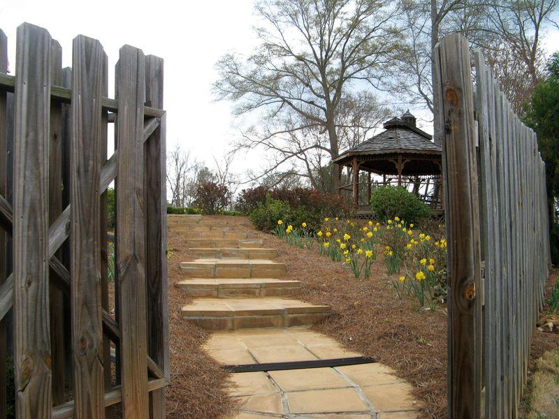 Indian Springs Georgia Rose Garden entrance