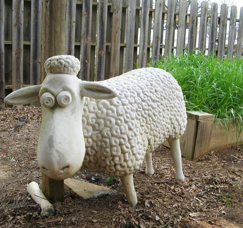 Indian Springs Georgia Whimsical Garden sheep