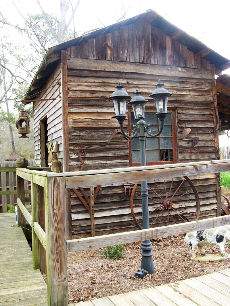 Indian Springs Georgia Whimsical Garden  old barn