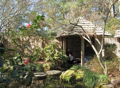 Massee Lane Camellia Gardens Japanese Garden hut