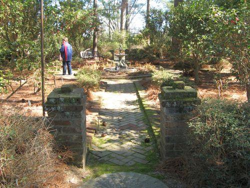 Massee Lane Camellia Gardens small formal garden entrance