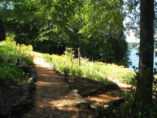 Dow Lake Henry County Georgia Garden Tour 2012 backyard paths