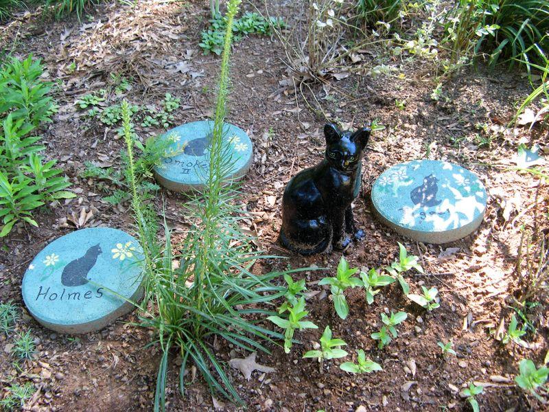 Dow Lake Henry County Georgia Garden Tour 2012 kittie cat memorial