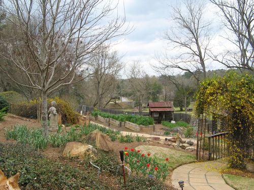 Indian Springs Georgia Whimsical Garden overlook