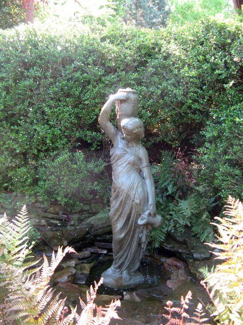 Athens Georgia Garden Tour 2013 parterre garden statue closeup