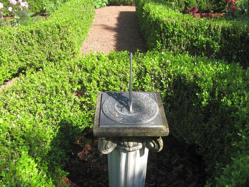 Athens Georgia Garden Tour 2013 parterre garden sundial