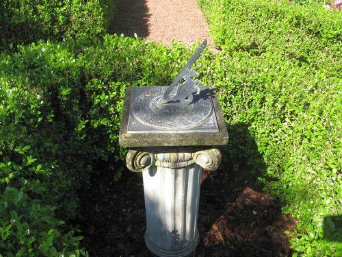 Athens Georgia Garden Tour 2013 parterre garden sundial closeup