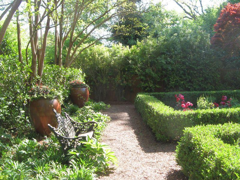 Athens Georgia Garden Tour 2013 parterre garden boxwood hedges