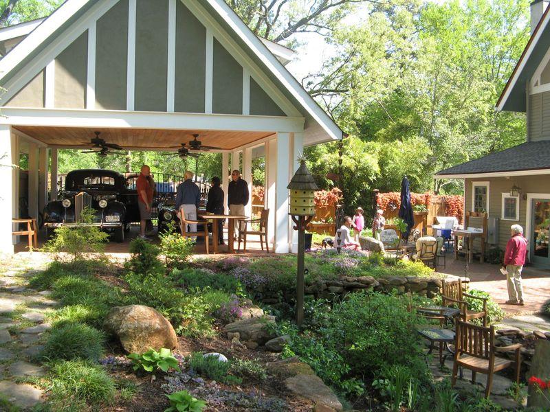 Athens Georgia Garden Tour 2013 small garden from the upper terrace