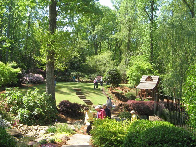 Athens Georgia Garden Tour 2013 back garden overview