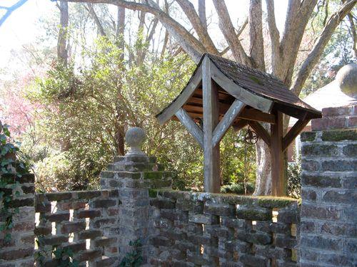 Massee Lane Camellia Gardens Wishing Well Iron Gates corner