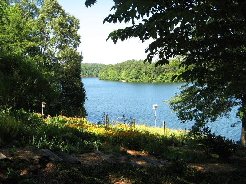 Dow Lake Henry County Georgia Garden Tour 2012 lake flower beds