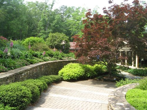 Athens Garden Tour 2012 steps to courtyard