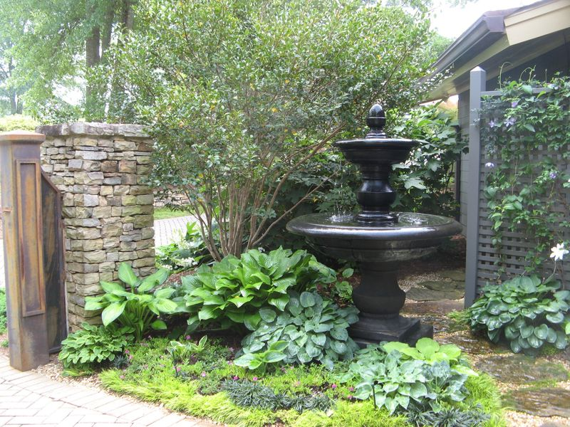 Athens Garden Tour 2012 courtyard fountain