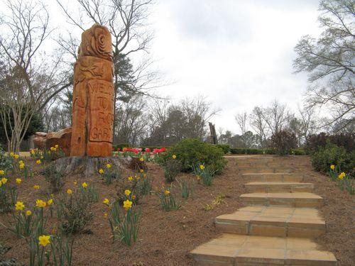 Indian Springs Georgia Rose Garden stairs