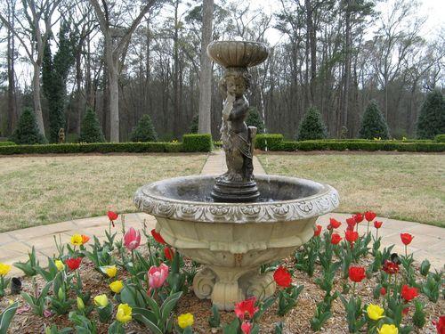 Indian Springs Georgia Rose Garden fountain closeup