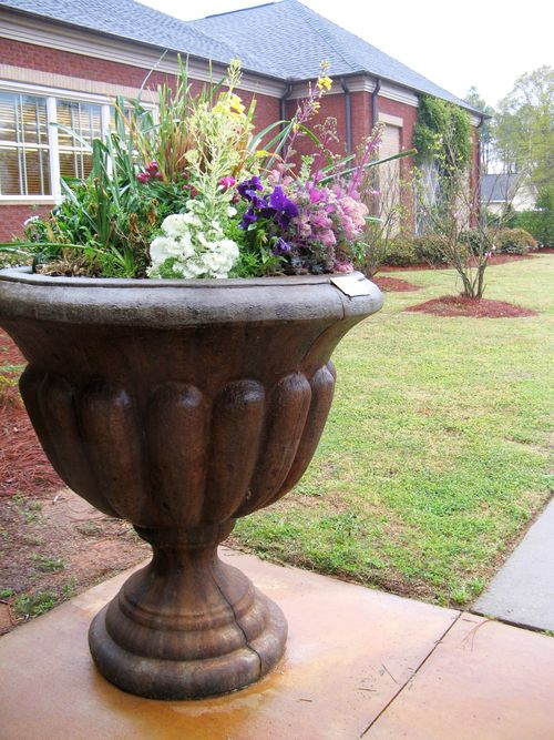 Lanford Library flower urn