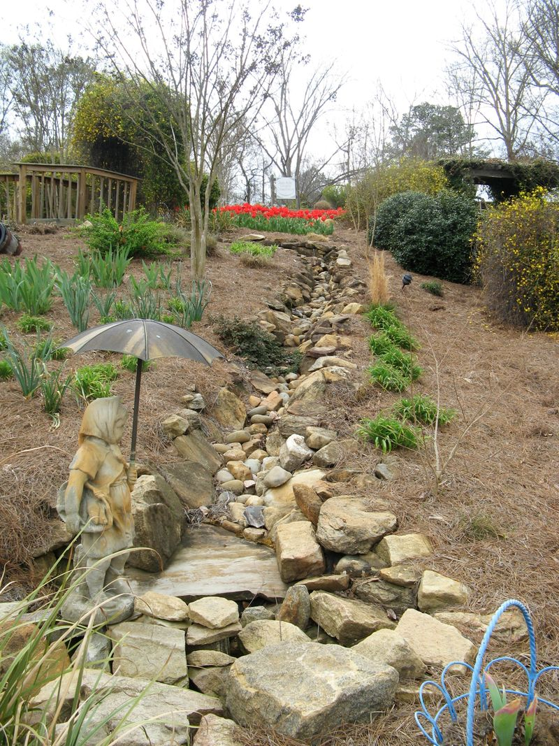 Indian Springs Georgia Whimsical Garden dry riverbed