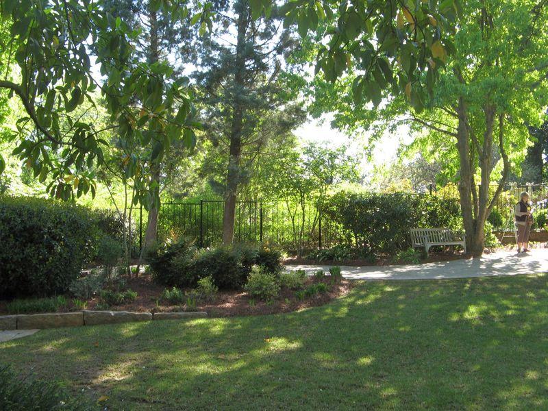Athens Georgia Garden Tour 2013 view from bench
