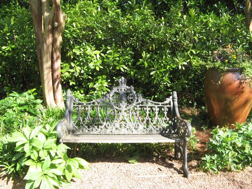 Athens Georgia Garden Tour 2013 iron bench