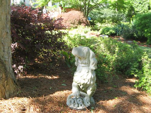 Athens Georgia Garden Tour 2013 cute dog statue