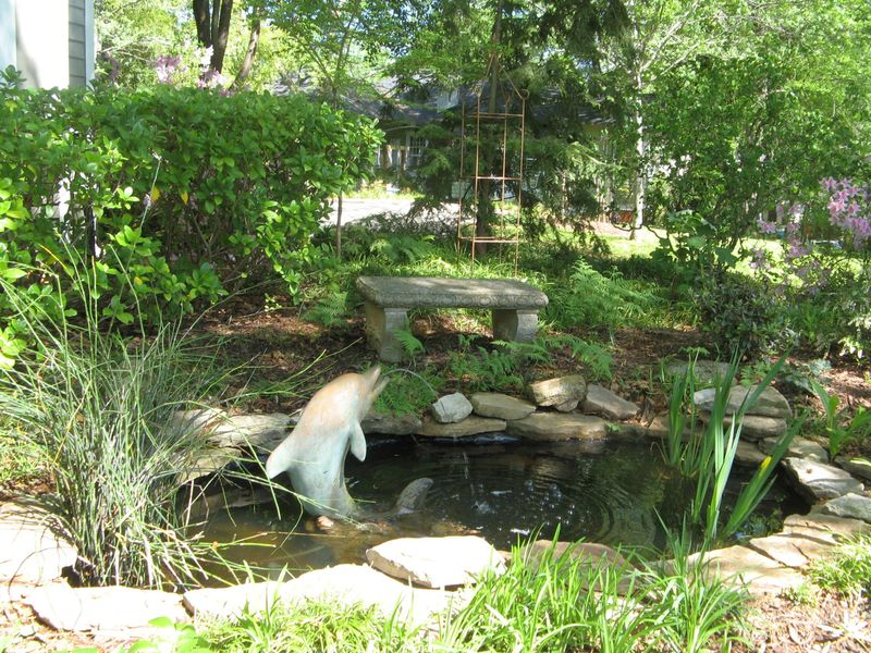 Athens Georgia Garden Tour 2013 dolphin pond
