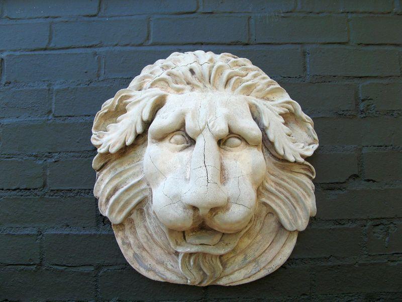 Athens Georgia Garden Tour 2013 lion wall hanging