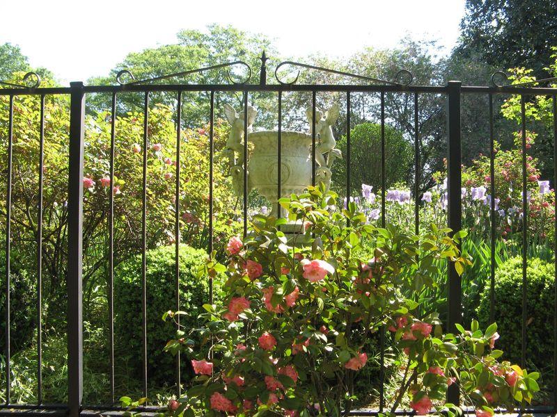 Athens Georgia Garden Tour 2013 peek into neighbor garden