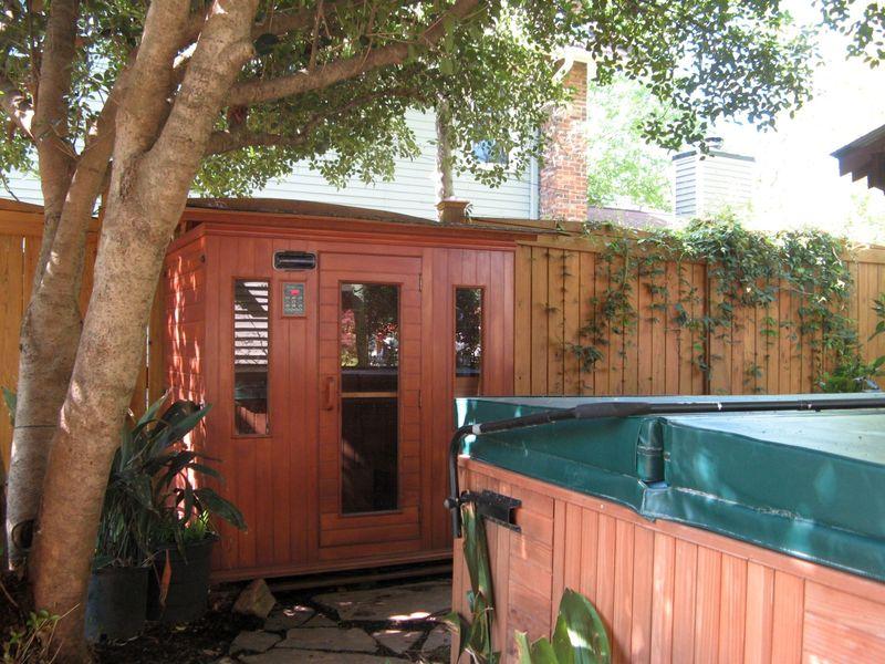 Athens Georgia Garden Tour 2013 sauna and hottub