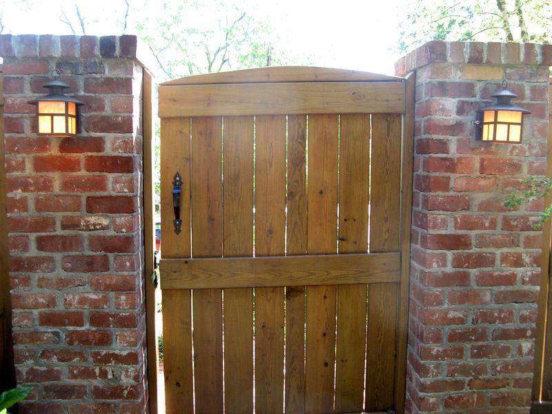 Athens Georgia Garden Tour 2013 wood gate